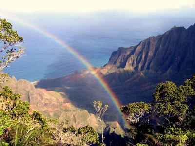 Kauai Kokee State Park Rainbow