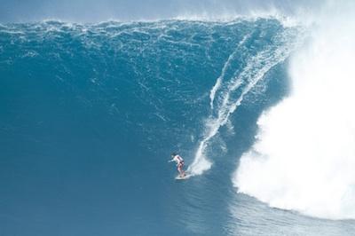 Tyler Larronde riding Jaws Surfing