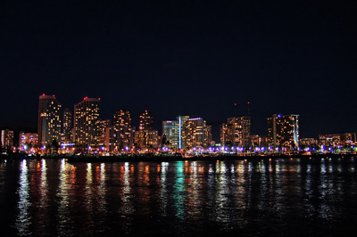 Waikiki night view